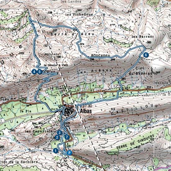 Carte rando du Géologue